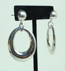 925 Sterling Silver 41mm 1.5 in  Statement Large Round Hoops