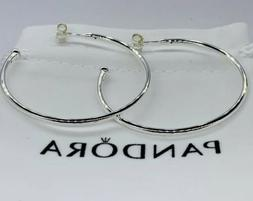 NEW AUTHENTIC PANDORA EARRINGS LARGE HOOPS OF VERSATILITY #2