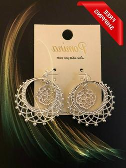 New Women Pomina Jewelry 925 Silver Filled No Tarnish Hoop D