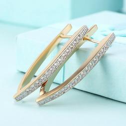 Elements Round Hoop Earrings 18k Gold Plated